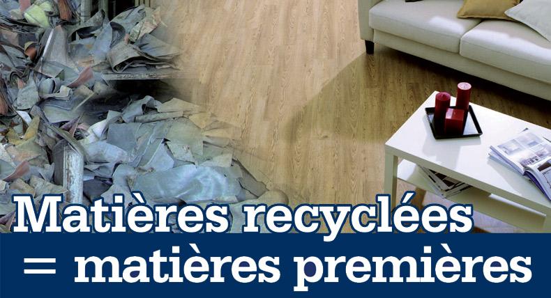 Matières recyclées = matières premières